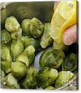 Flavoring Brussels Sprouts Acrylic Print