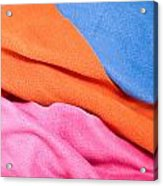 Fleece Material Acrylic Print