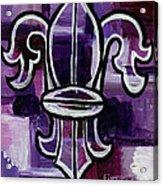 Fleur De Lis Purple Abstract Acrylic Print