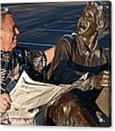 Flesh And Bronze Acrylic Print