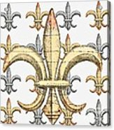 Fleur De Lys Silver And Gold Acrylic Print