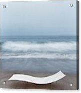 Flexy Batyline Mesh Curve Chaise On Malibu Beach Acrylic Print