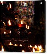 Flickering Prayers Acrylic Print