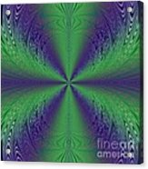 Flight Of Fancy Fractal In Green And Purple Acrylic Print