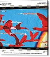 Flight Of Magical Gulls Anime Acrylic Print