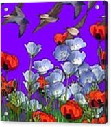 Flight Over Poppies Acrylic Print