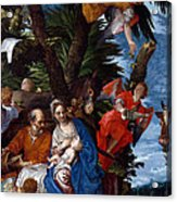 Flight To Egypt With Angels Acrylic Print