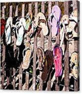 Flip Flops By Jan Marvin Acrylic Print