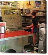 Flippin Burgers In The Diner Acrylic Print