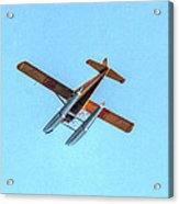 Float Plane Fly Over Pacific Northwest Acrylic Print