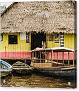 Floating Bar In Shanty Town Acrylic Print
