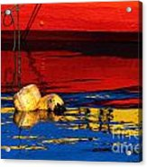 Floating Buoys And Reflections Acrylic Print