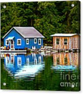 Floating Cabin Acrylic Print