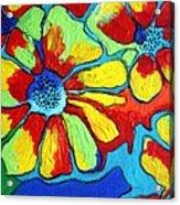 Floating Flowers Acrylic Print