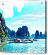 Floating In Ha Long Acrylic Print