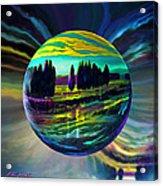 Floating Lavender Fields  Acrylic Print