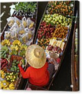 Floating Market Acrylic Print by Christian Heeb