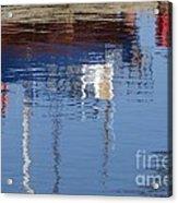 Floating On Blue 21 Acrylic Print