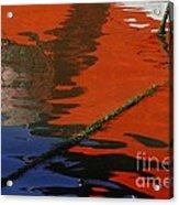 Floating On Blue 26 Acrylic Print