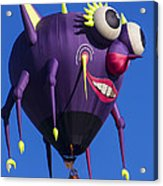 Floating Purple People Eater Acrylic Print by Garry Gay