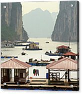 Floating Villages, Halong Bay, Vietnam Acrylic Print