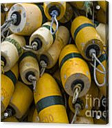 Floats Used In Crab Fishing Acrylic Print