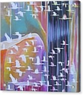Flock Of Cranes Acrylic Print