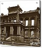 James Clair Flood Mansion Atop Nob Hill San Francisco Earthquake And Fire Of April 18 1906 Acrylic Print