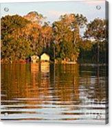 Flooded Amazon With Houses Acrylic Print
