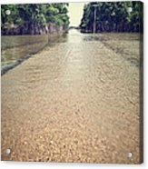 Flooded Road Acrylic Print