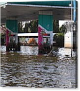 Flooding Of Stores And Shops In Bangkok Thailand - 01135 Acrylic Print