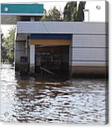 Flooding Of Stores And Shops In Bangkok Thailand - 01136 Acrylic Print by DC Photographer
