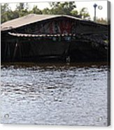 Flooding Of Stores And Shops In Bangkok Thailand - 01137 Acrylic Print by DC Photographer