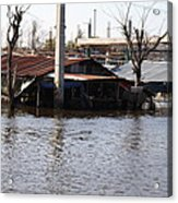 Flooding Of Stores And Shops In Bangkok Thailand - 01138 Acrylic Print by DC Photographer