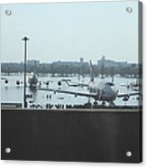 Flooding Of The Airport In Bangkok Thailand - 01135 Acrylic Print