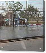 Flooding Of The Streets Of Bangkok Thailand - 01131 Acrylic Print