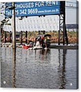 Flooding Of The Streets Of Bangkok Thailand - 01137 Acrylic Print by DC Photographer