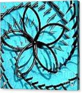Flor Azul Acrylic Print