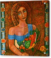 Flora - Goddess Of The Seeds Acrylic Print