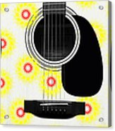 Floral Abstract Guitar 22 Acrylic Print