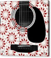 Floral Abstract Guitar 24 Acrylic Print
