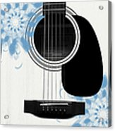 Floral Abstract Guitar 25 Acrylic Print
