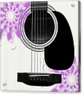 Floral Abstract Guitar 26 Acrylic Print