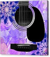 Floral Abstract Guitar 27 Acrylic Print