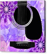 Floral Abstract Guitar 29 Acrylic Print