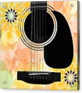 Floral Abstract Guitar 37 Acrylic Print