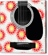 Floral Abstract Guitar 8 Acrylic Print