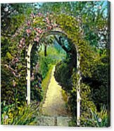 Floral Arch And Path Acrylic Print