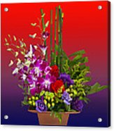 Floral Arrangement Acrylic Print by Chuck Staley