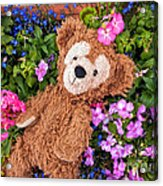 Floral Bear Acrylic Print